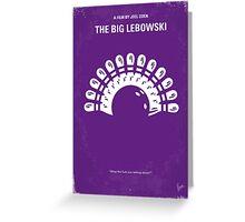 No010 My Big Lebowski minimal movie poster Greeting Card