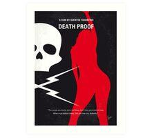 No018 My Death Proof minimal movie poster Art Print