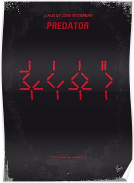 No066 My predator minimal movie poster by Chungkong