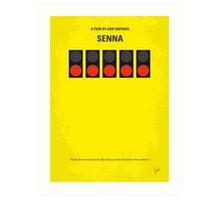 No075 My senna minimal movie poster Art Print