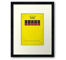 No075 My senna minimal movie poster Framed Print