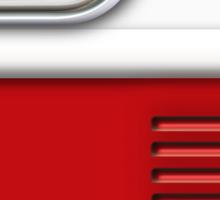 White Red Camper Van Sticker