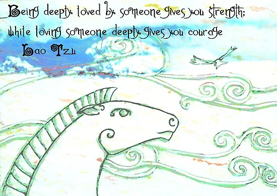 Love Generates Strength & Courage  by Toradellin