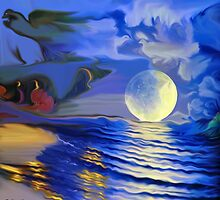 Moonlight and roses by haya1812