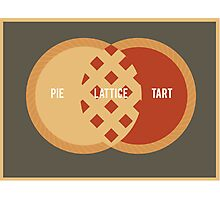 Pie, Tart or Lattice Photographic Print
