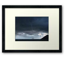 """""""Tornado""""? Sea Spout in Bray Co.Wicklow Ireland Framed Print"""