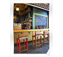 """""""Cajun Cafe"""" New Orleans French Market Poster"""