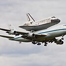 Shuttle Discovery Landing at Dulles International Airport by jandgcc
