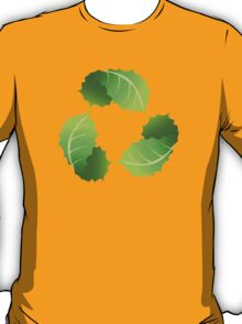 Green Leaf Recycle Icon T-Shirt