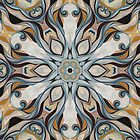 Baroque Earth tones Rosette- R107 by Heidivaught