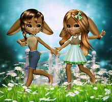 Spring Bunnies by Brandy Thomas