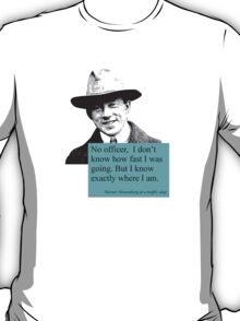 Uncertain Heisenberg at a traffic stop T-Shirt