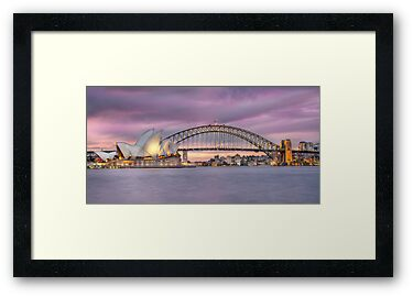 sunset over Sydney Harbour by Shannon Rogers