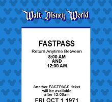 Walt Disney World's Opening Day Fastpass (Blue) by Rechenmacher