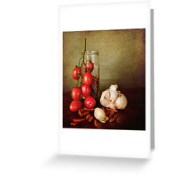 Mediterranean flavors Greeting Card