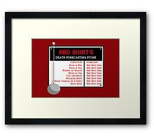 Red Shirt's Death Forecasting Stone Framed Print