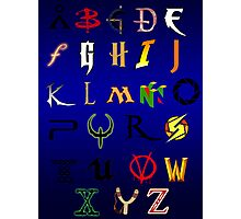 The alphabet of Geekdom Photographic Print