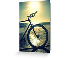 Fixie at Dusk Greeting Card