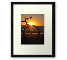 Fixie at Sunset Framed Print
