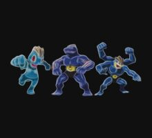 Pokemon - Machop, Machoke, Machamp by Tarobeast