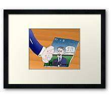 Binary Options News Caricature Mitt Romney Framed Print