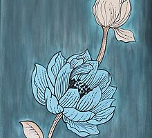 Original acrylic painting of flower on canvas by Maralin Cottenham