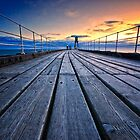 Dawn on Whitby Pier by hebrideslight