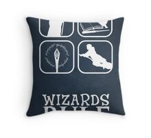 Wizards Rule Throw Pillow