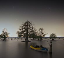 Kayak at the Sunken Island by Troy Dalmasso