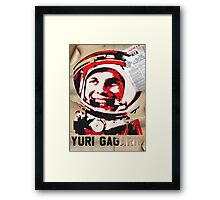 Yuri Gagarin forever with us Framed Print