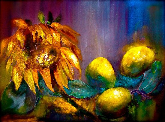 Still Life with a Sunflower... by © Janis Zroback