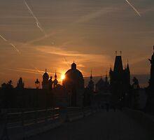 Sunrise Charles Bridge by SerenaB