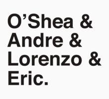 O'Shea & Andre & Lorenzo & Eric NWA T-Shirt Kids Clothes