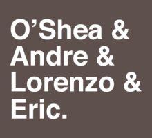 O'Shea & Andre & Lorenzo & Eric NWA T-Shirt by tcn33