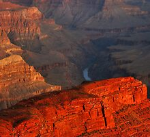 Hopi Point at Sunrise by Stephen Vecchiotti