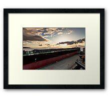 Sunset from Pier 66 Framed Print