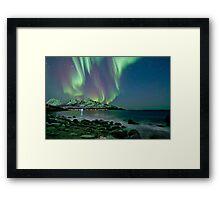 Aurora Borealis at Tromvik Framed Print