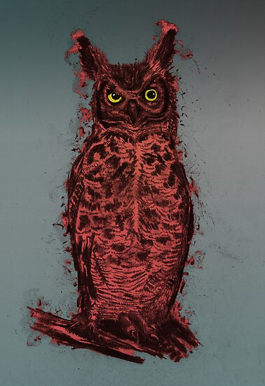 Great Horned Owl (red) by BawbeeRok