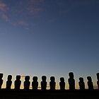 Ahu Tongariki early sunrise by jorginho