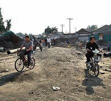 Beijing 2006 - Making space for a new road by Marjolein Katsma