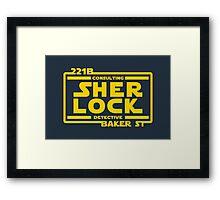 SHER LOCK Framed Print