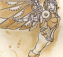 sTEAmpunk Angel by LCWaterworth