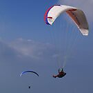 Paragliders on Monte Baldo by brianhardy247