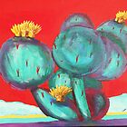 Cactus Flowers by William C Smith
