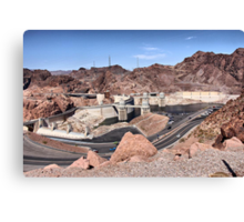 Hoover Dam - Tourist Parking Lot Side Canvas Print