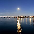 BUSSELTON JETTY UNDER THE FULL MOON by Jodi Kneebone