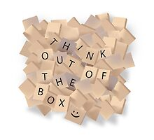 Scrabble - Think out of the box. by Nathan Leary