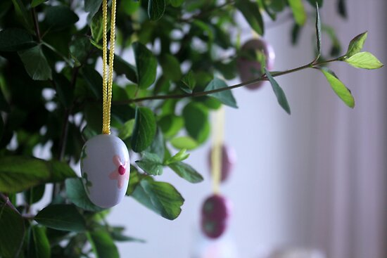 Wooden Easter Eggs by Kareena  Kapitzke