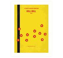 No048 My Kill Bill - part 1 minimal movie poster Art Print