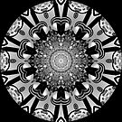 Black & White Sphere Kaleidoscope by fantasytripp